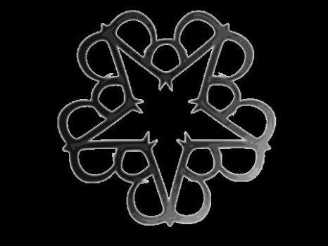 black veil brides logo 48 pieces jigsaw puzzle