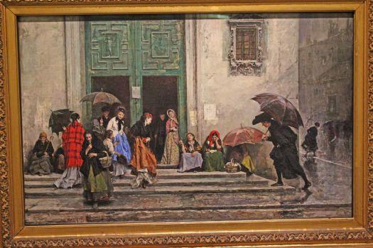 coming-out-of-church by Raimundo de Madrazo y Garreeta at the Walter's Art Museum, Baltmore