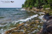 Lake Superior shoreline near AuTrain, Michigan USA