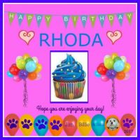 Happy Birthday Rhoda!