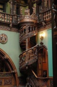 Beautiful Staircase in Peles Castle,Romanial