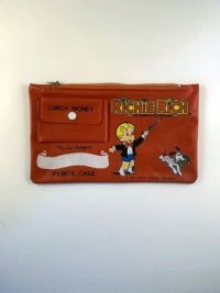 Richie Rich pencil case with lunch money pocket