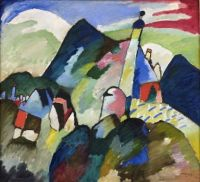 Murnau with View of Church - Wassily Kandinsky