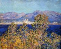 Claude Monet - Antibes seen from  The Cape Mistral Wind, 1888 (Mar17P50)