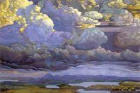 Battle in the Heavens, by Nicholas Roerich, 1912