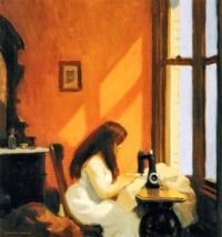 Edward Hopper ~ Girl at a Sewing Machine, 1921