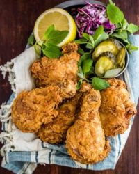 July 6th is National Fried Chicken Day - here is Maple Buttermilk Fried Chicken