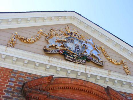 Crest of the Governor at Historic Williamsburg VA