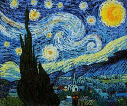 La noche estrellada - Vincent Van Gogh