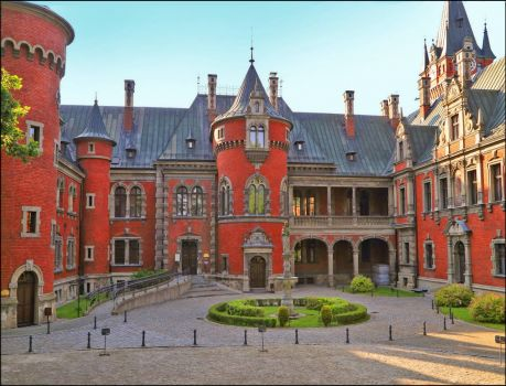 Castle in Plawniowice Poland