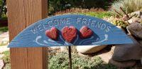 Home garden path sign