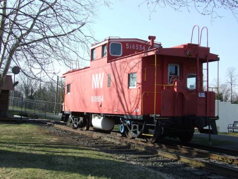 Virginia!  Red Caboose in Warrenton