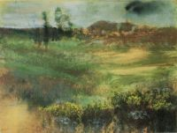 Monotype landscape by Edgar Degas
