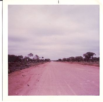 Neverending road across the Nullabor, Australia