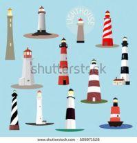 stock-vector-set-of-cartoon-lighthouses-searchlight-towers-for-maritime-navigation-guidance-ocean-beacon-light-509971528