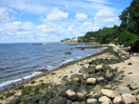Glen Cove beach rocks