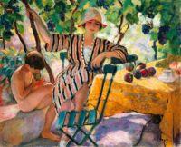 Henri Lebasque (French, 1865–1937), The Garden in Summer, Saint-Tropez (1920)