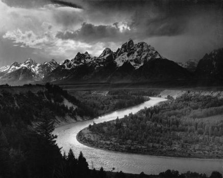 ansel adams river picture