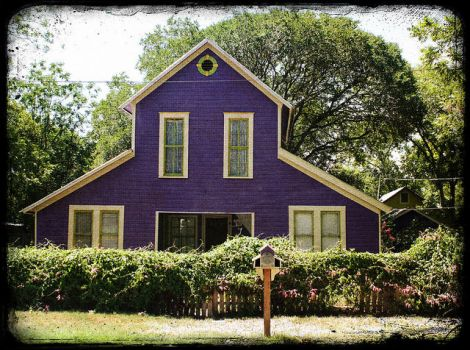 PURPLE OLD HOUSE...