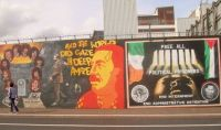 Nationalist mural in the Falls Rd, Belfast.