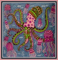 Art - Colouring - Nature - Sea / Ocean - Octopus & Jellyfish (Very Large)