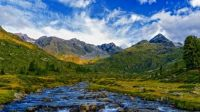 Mountains and stream