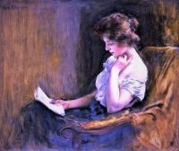 Lesende junge Frau/Young woman reading (1904)