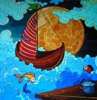 Sailing the ocean blue . . . . .