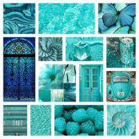 MY TURQUOISE COLLAGE