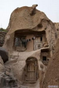 700 year old house built in a big rock in Iran.