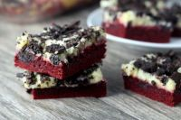 Red Velvet Cookies and Cream Bars