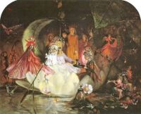 The Fairy's Barque victorian fairy painting