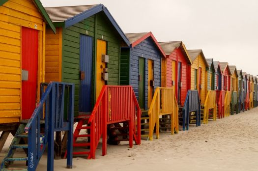 Cabins in muizenberg, south africa