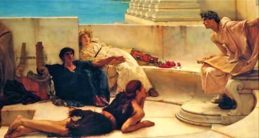 A READING FROM HOMER by SIR LAWRENCE ALMA TADEMA