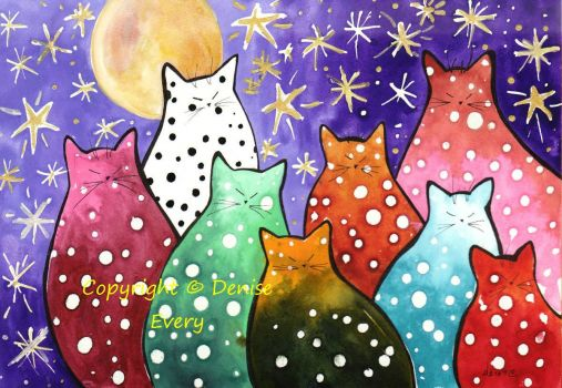 starlight cats - Denise Every * smaller *