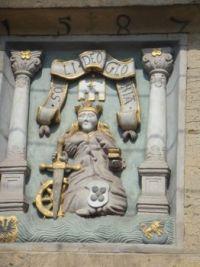 St Catherine's Hospital plaque, Esslingen, Germany