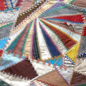 Detail of Vintage Crazy Quilt