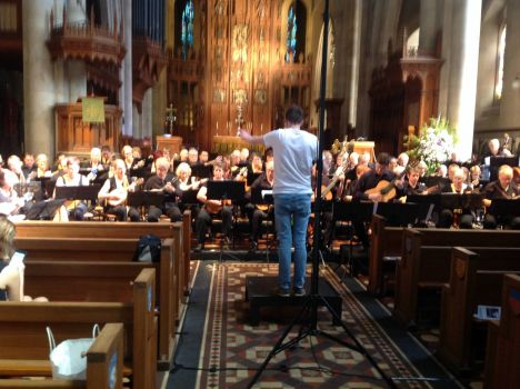 rehearsal at st Peters Cathedral,Adelaide