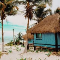 Blue Beach Shacks
