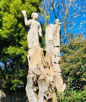 Cypress tree sculptures