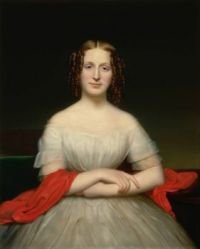 Charles C. Ingham Portrait of Fidelia Marshall circa 1840