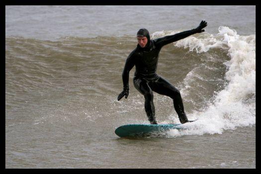 Hope beach surfing
