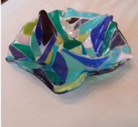 THEME:  Glassware   Fusible Glass Bowl - I also have a smaller one, but I like the wavy edges of this one.