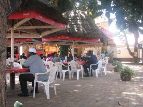 Lunch stop Uganda highway