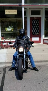 biker on Harley
