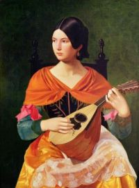 """Woman with Mandolin""-Vjekoslav Karas-1845-1847"