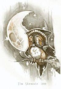 Owl in Moonlight