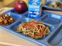 撈麵/撈麪: School Cafeteria Chinese Beef Lo Mein Lunch