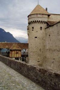 Entrance to Chateau Chillon
