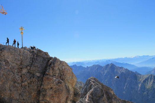 The peak of Zugspitze, Garmisch-Partenkirchen, Germany